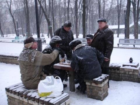 Sjakkspillere i snøvær2