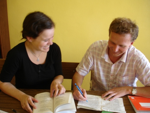 Tone og jeg på språkskole iMinsk