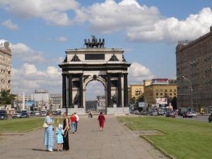 Triumfbuen i Kutuzovskij prospekt, nær Park Pobedy metrostasjon