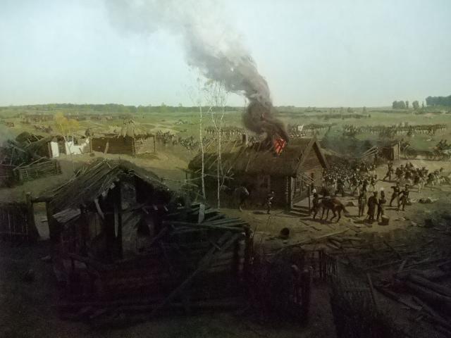 Bøndene brente ned hus og gods som tillhørte adelen og presteskapet