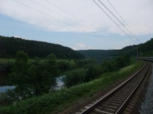 Dette bildet er fra området rundt Ural, på den transsibirske jernbanen.