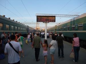 Vi er fremme i Jekaterinburg sånn cirka litt før klokken 2200, lokal tid.