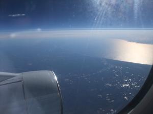 Utsikt fra vinduet i flyet fra Vladivostok til St. Petersbug