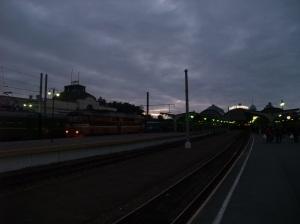 Her er mitt tog. Som man ser er jeg på feil perrong.