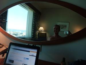 Jeg på hotellrommet, Radisson SAS, Tallinn, Estland
