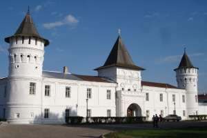 Selve festningen i Tobolsk, med de karakteristiske russiske tårnene og trekanttakene