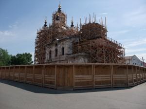 Kirkte til restaurering i gamlebyen i Tobolsk, vestre Sibir