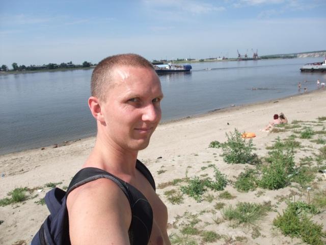 Her er jeg! Badeplassen ved Irtysj, Tobolsk.