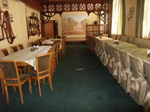 Restauranten satt ut for bankett