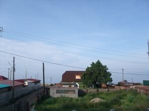 Utsikten fra Green hostel, Listvjanka. Bajkalsjøen er som man ser - nærme.