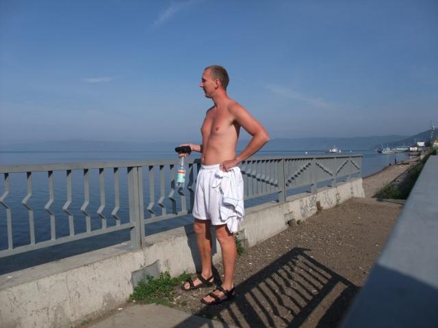 Først litt badstue light i sommerværet ved Bajkal.