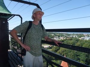 Jeg i tårnet i St. Olavs kirken i Tallinn, Estland