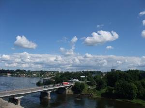 Grensen mellom Russland og Estland, ved Narva (og Ivangorod)