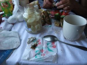 Russisk lunsj på toget