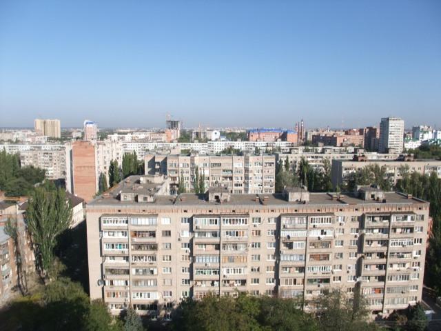 Typisk russisk utsikt fra hotell Don-Plaza i Rostov