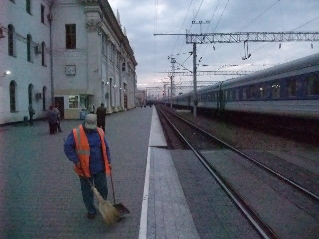 Morgenstemning på stasjonen i Krasnodar