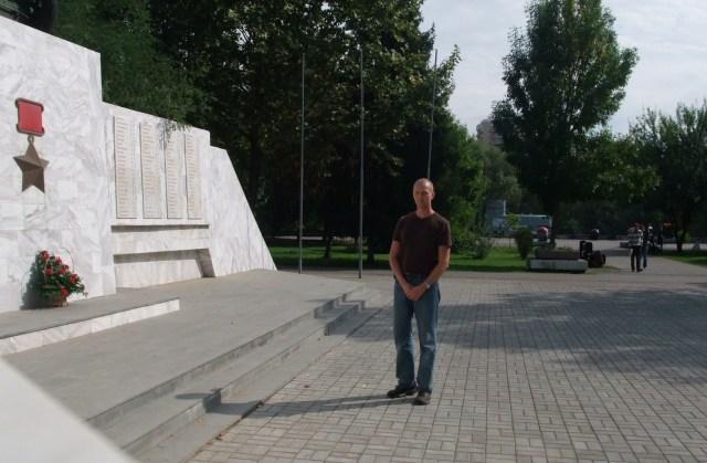 Jeg ved krigsminnesmerket i Krasnodar