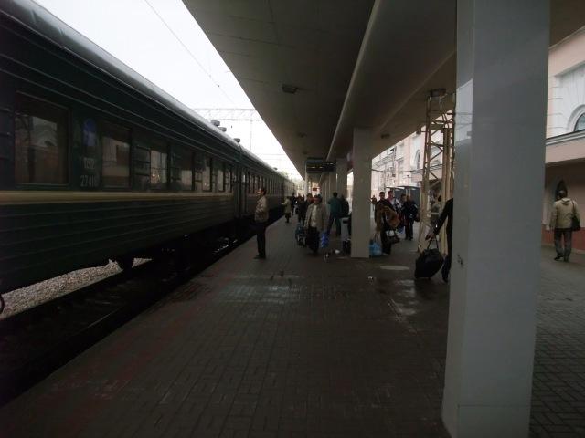 Tog nr. 75 ved Kurskaja stasjon - klar til avgang