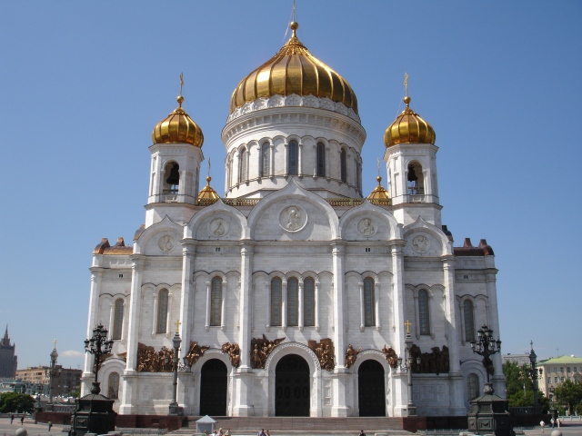 Det var i denne kirken patriarken ble valgt i går, 27. januar 2009.