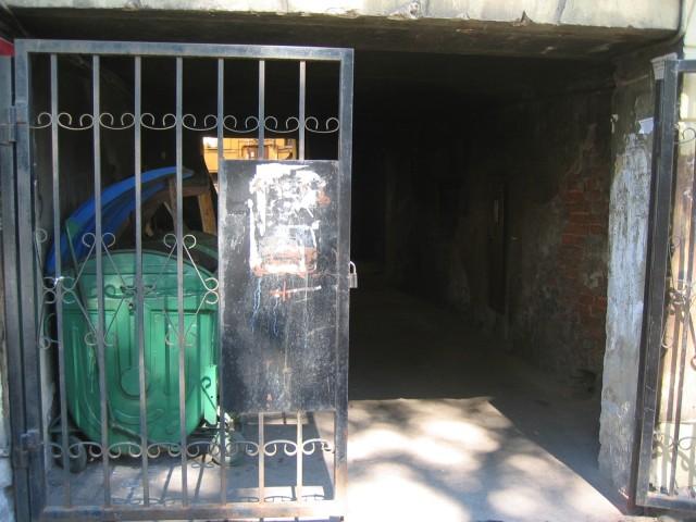 Porten inn til pantelånersken, Anna Ivanovna, i Forbrytelse og straff.
