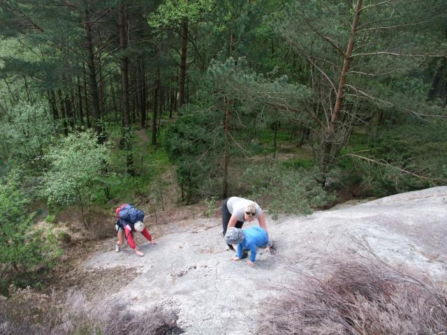 Ingen tvil om hvem som klatrer lettest.