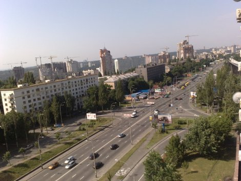 Utsikten fra køkkenvinduet, leiligheten i Kiev min familie bodde i.