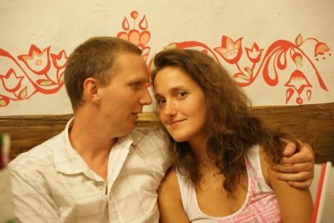 Olia og jeg! Vi skal gifte oss!