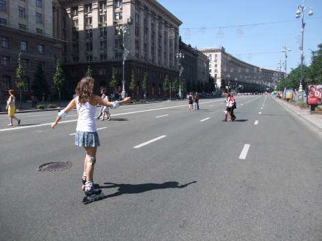 Olia, rulleskøyter, Khresjtsjatik, Kiev
