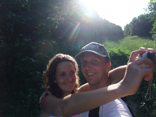 Olia og jeg, botanisk hage, Kiev