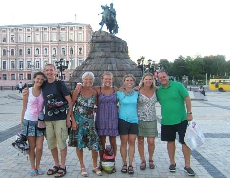 Olia, jeg, mor, Tonje, Trude, Tone, Dennis