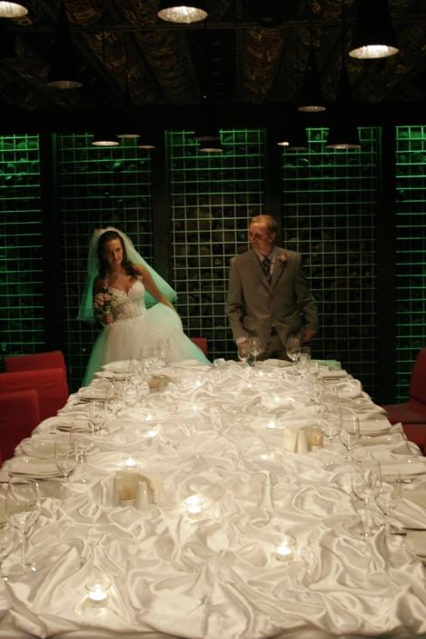 Olia og jeg, middag, bryllup