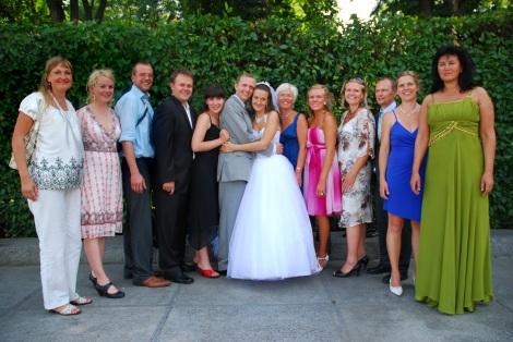Her er vi alle samlet hele brudefølget. Før musepekeren over bildet for å se navnene.