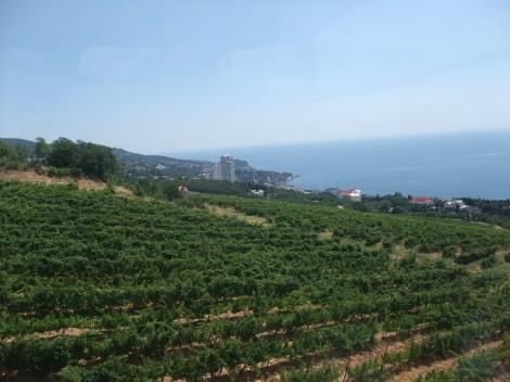 Utsikt, taubane, Aj-Petri, Krim