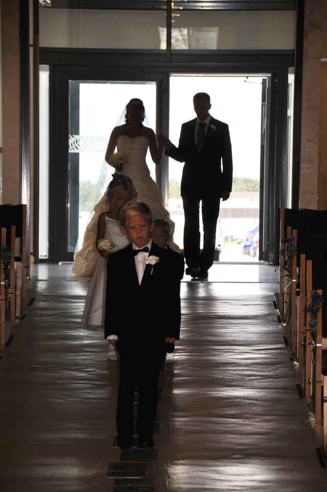 Kirkegangen, Brud, Bryllup