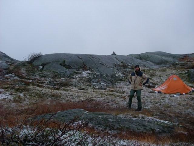 Morgenfjell, Fjelltur, Telt