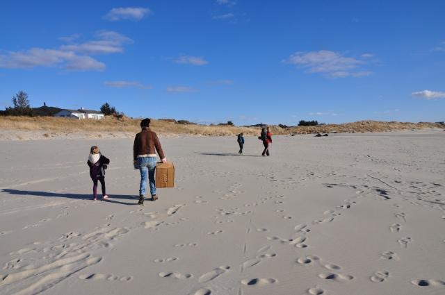 På vei hjem, Olia og Sara, Andreas og Tone.
