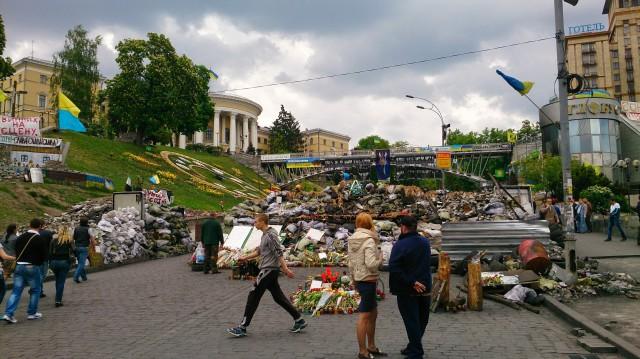 Instituskaja ulitsa, Kiev, Uavhengighetsplassen, Janukovitsj, Kamp, Protester, Opprør, Euromaidan, Krise, Demonstrasjoner