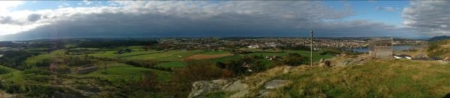 Panoramabilde fra Bogafjell, der vi satt og spiste i dag.
